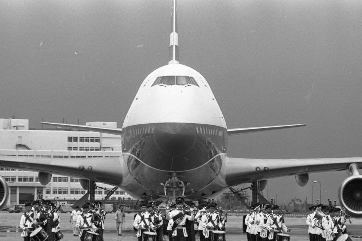 Cathay Pacific welcomes its first Boeing 747, at Kai Tak Airport, in 1979. Pictures: SCMP; Red Door News Hong Kong; Cathay Pacific Archives