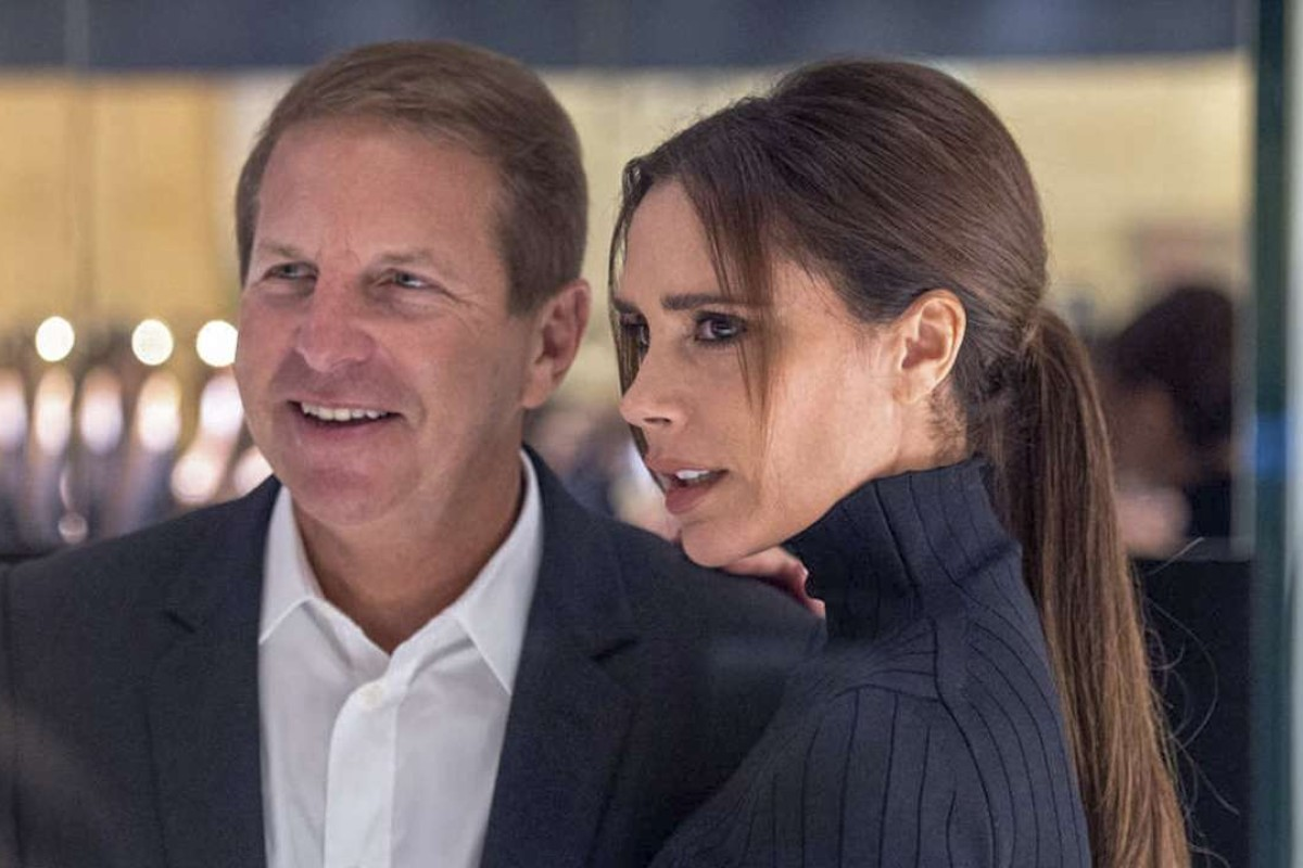 Bruce Rockowitz with Victoria Beckham at the opening of her Hong Kong store in March 2016.