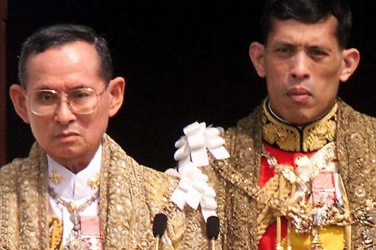 Thai King Bhumibol Adulyadej (left) with Crown Prince Maha Vajiralongkorn and Queen Sirikit. Photo: AFP