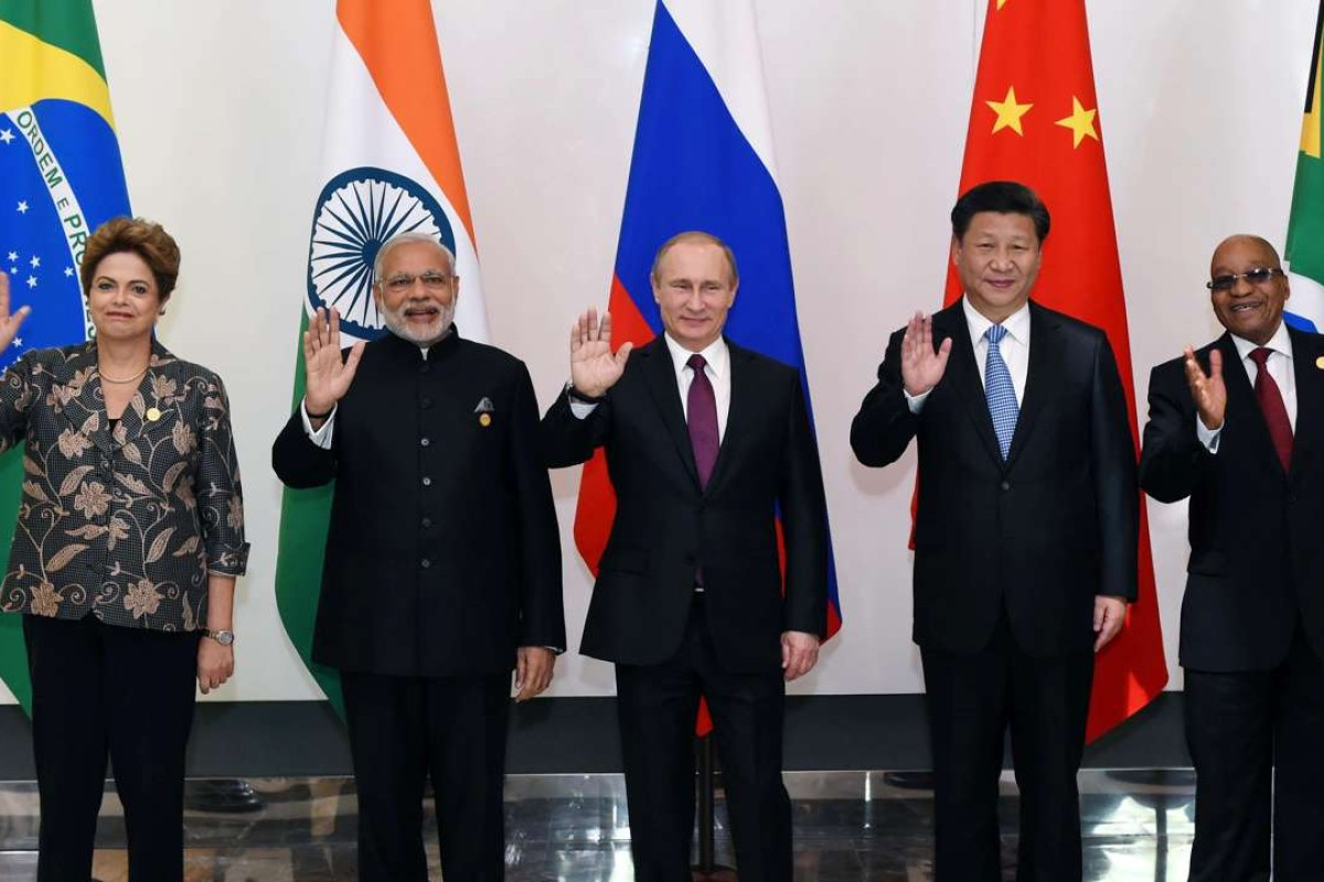 The leaders of BRICS nations meet in 2015. Photo: Xinhua
