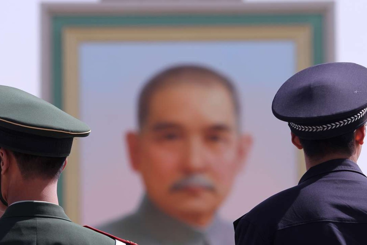 A portrait of Sun Yat-sen at Tiananmen Square, in Beijing. Picture: SCMP
