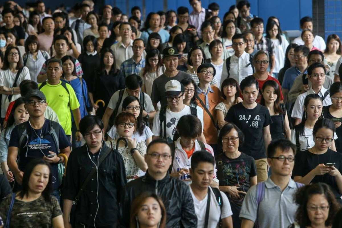 Commuters at Tai Wai MTR station on the East Rail line. Picture: SCMP