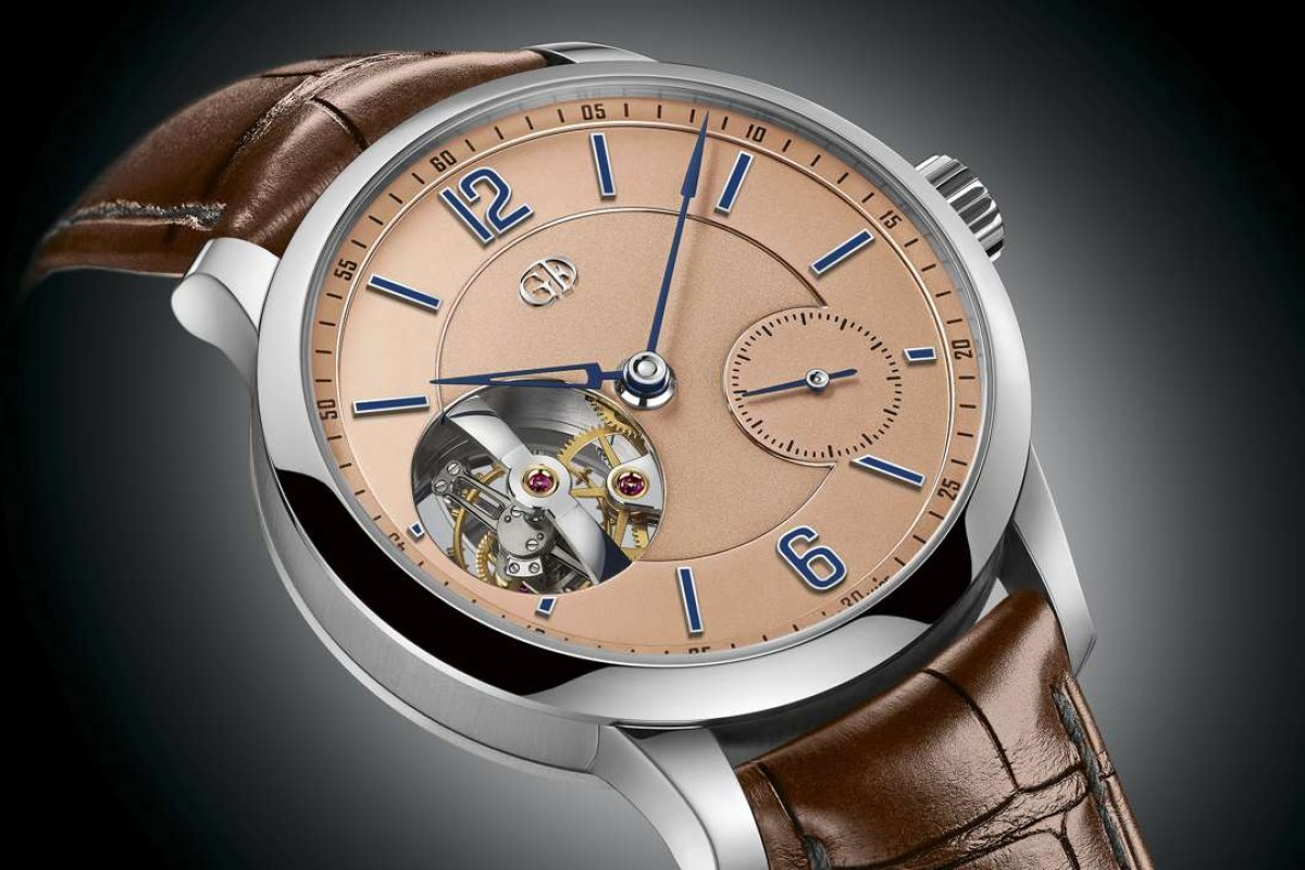 "Greubel Forsey Tourbillon 24 Seconds Vision in platinum with ""salmon"" dial"
