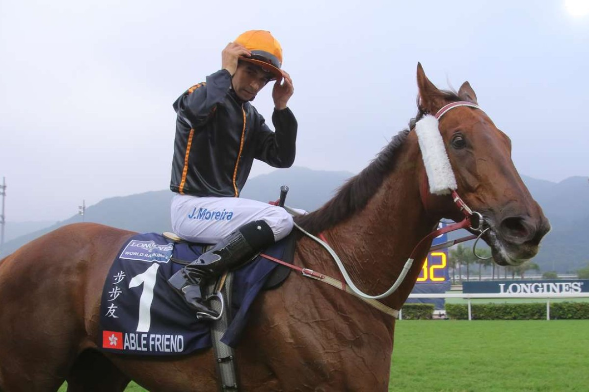 Joao Moreira and Able Friend. Photo: Kenneth Chan