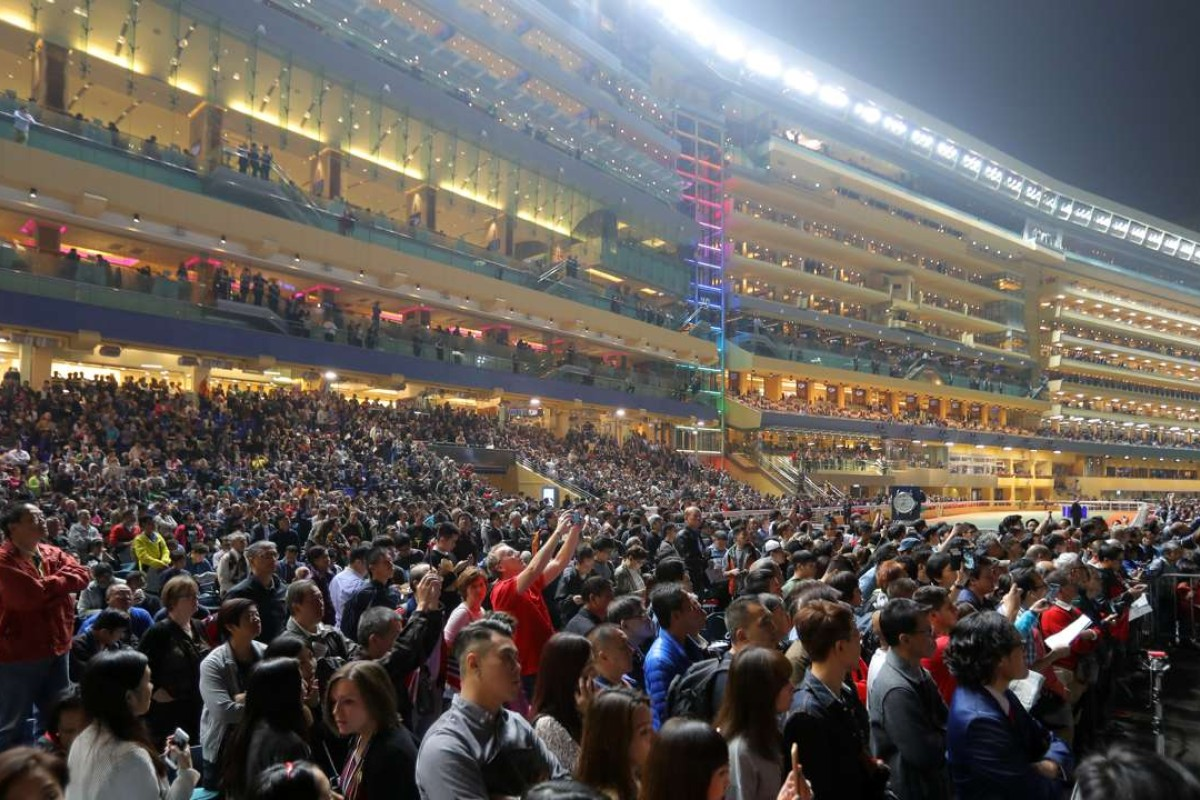 The world was watching – and betting – at Happy Valley on Wednesday night, along with more than 29,500 fans on course for the Longines International Jockeys' Championship. Photos: Kenneth Chan