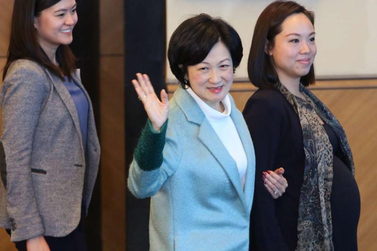Regina Ip Lau Suk-yee has announced her bid for the city's leadership race next March. Photo: Edward Wong