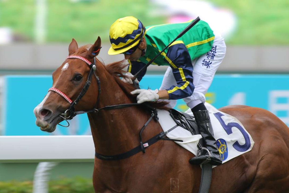 Joao Moreira guides Blizzard to victory at Sha Tin. Photos: Kenneth Chan