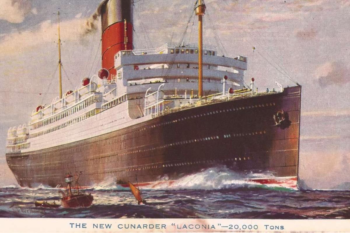 An RMS Laconia postcard.