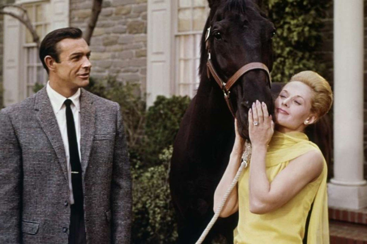 Sean Connery and Tippi Hedren in Marnie.
