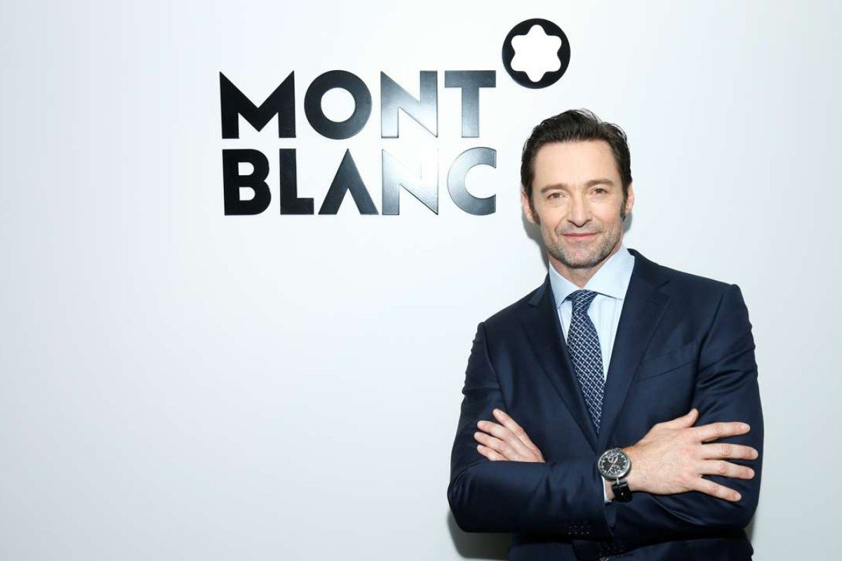 Hugh Jackman wearing the TimeWalker Chronograph at the Montblanc SIHH 2017 press conference