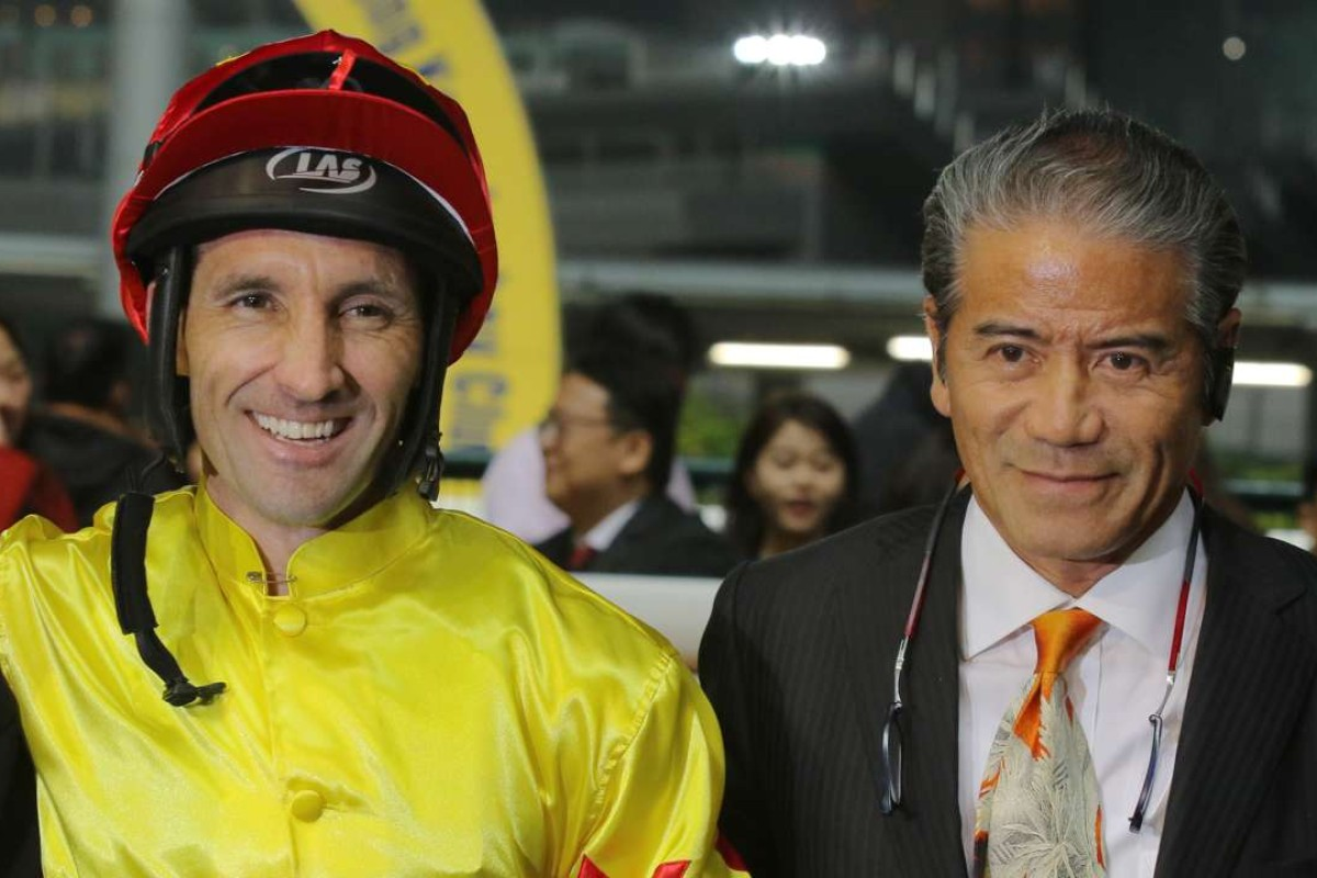 Neil Callan and Tony Cruz celebrate California Joy's win at Happy Valley in January. Photos: Kenneth Chan