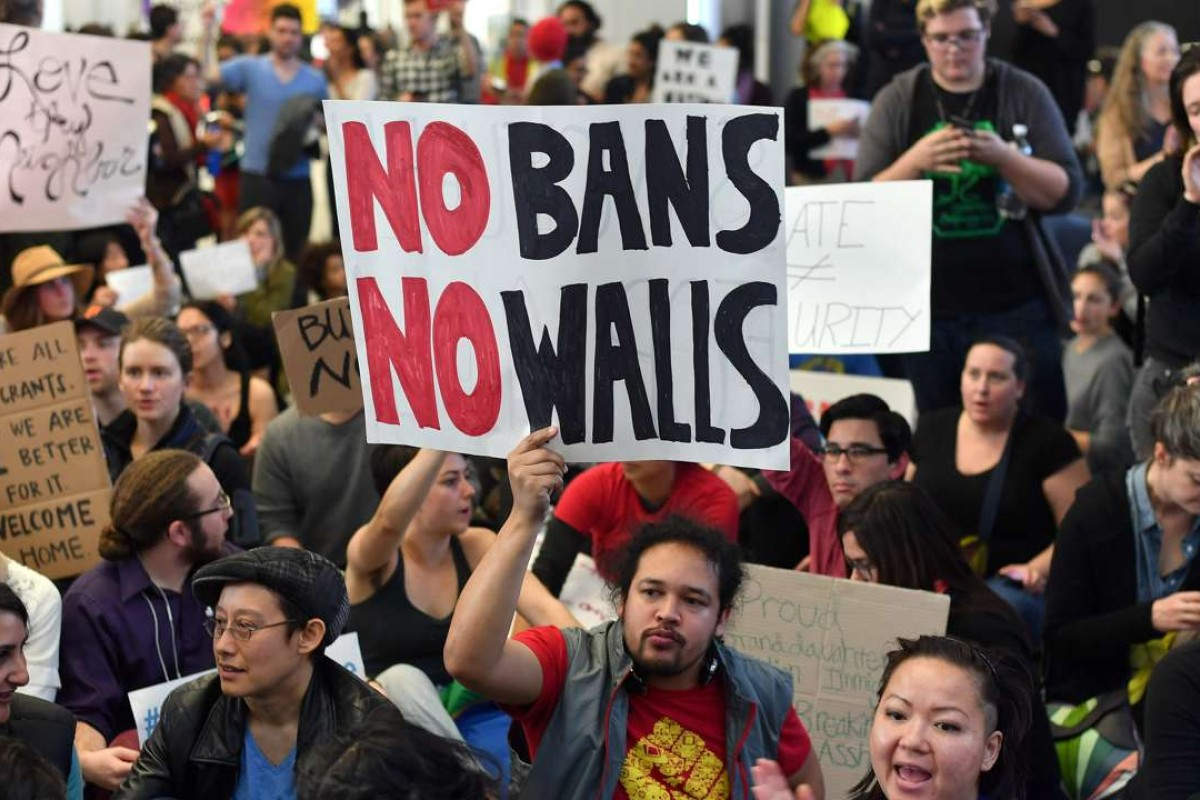 Demonstrators have lashed out over Trump's recent executive orders restricting travel from seven Muslim-majority countries. Photo: AFP