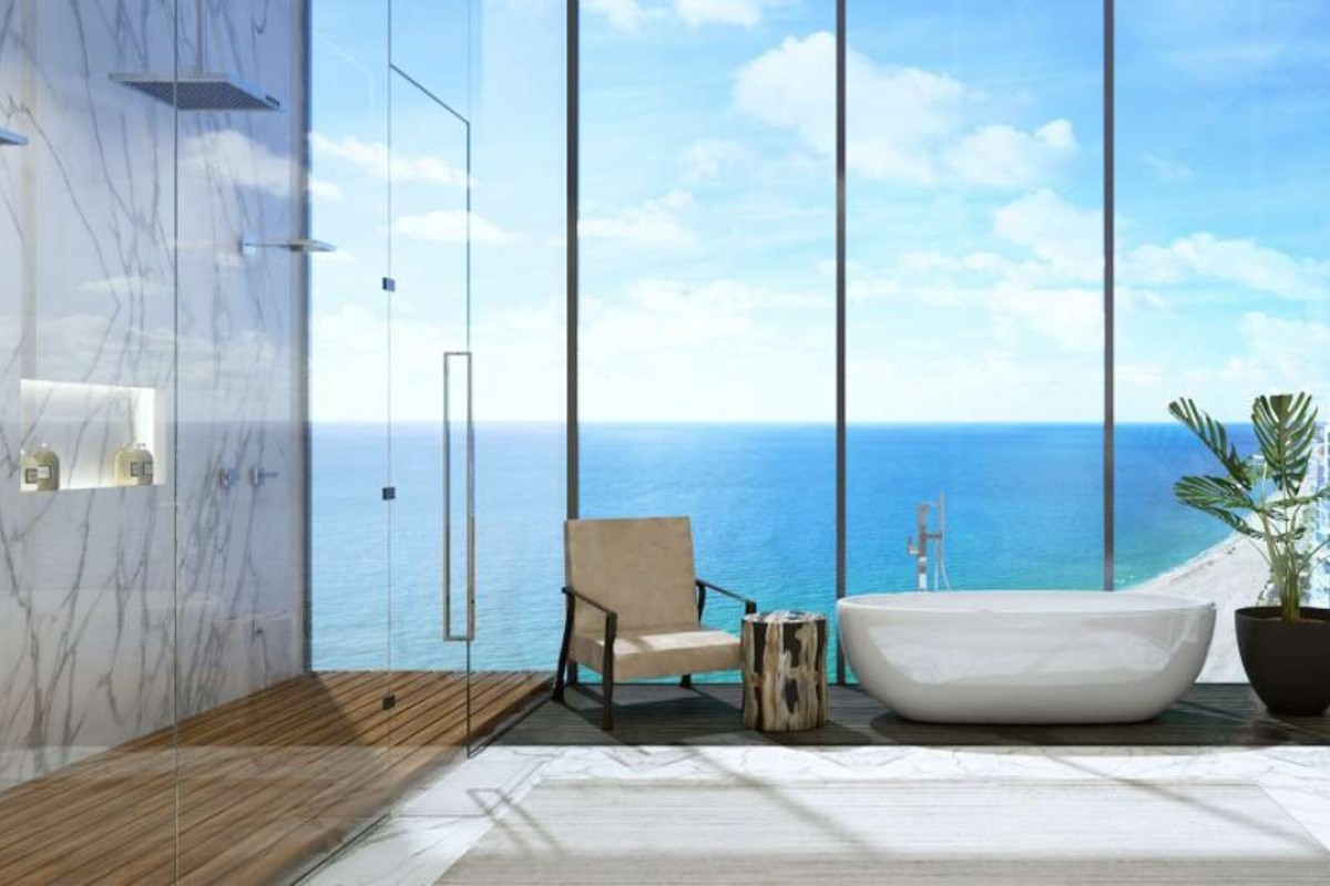 A rendering of an apartment at the Muse Residences in Miami, Florida, designed by Deepak Chopra