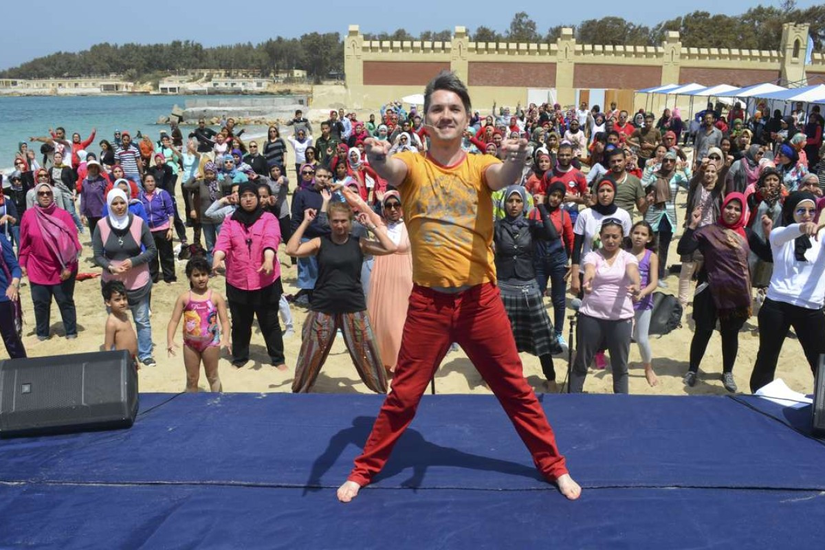 Gilles Chuyen during a Bollywood dance workshop in Alexandria, Egypt, in 2014.