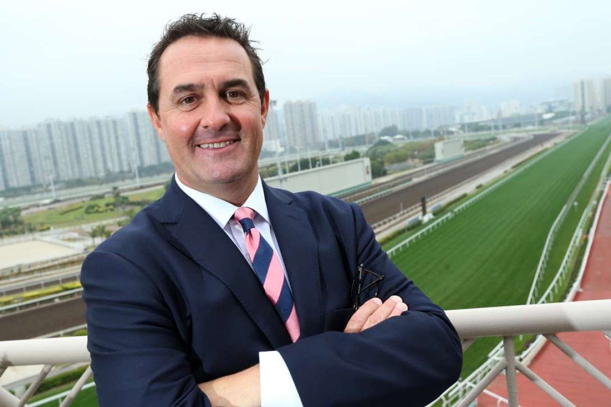 New trainer Michael Freedman poses for the cameras at Sha Tin on Friday. Photos: Kenneth Chan