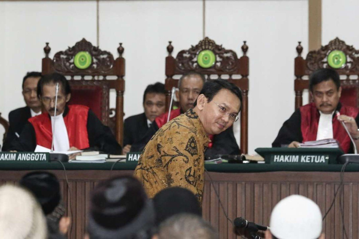 Jakarta's Christian governor Basuki Tjahaja Purnama is on trial for blasphemy. Photo: AFP