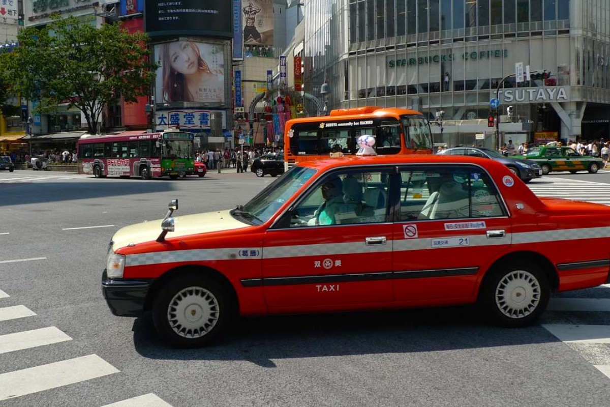 A taxi in Shibuya, Tokyo - no longer among the world's most expensive rides. Picture: Adam Nebbs