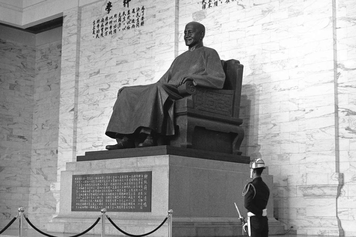 A statue of the former president of the Republic of China at the Chiang Kai-shek Memorial Hall, in Taipei. Picture: SCMP