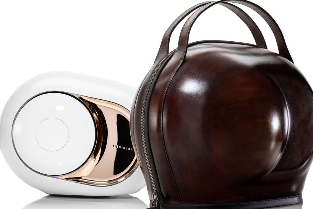 Devialet and Berluti come up with a travel case for the Phantom speaker.