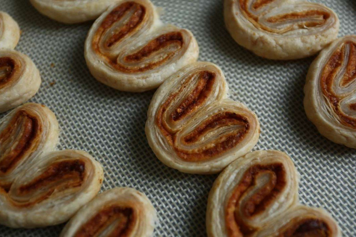 Parmesan-paprika palmiers. Photography: Jonathan Wong. Stylist: Nellie Ming Lee