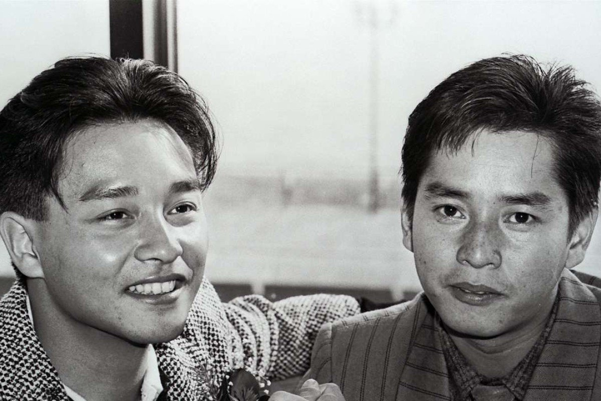 Leslie Cheung Kwok-wing (left) and Alan Tam Wing-lun, the hottest male pop-singers in Hong Kong in 1986.