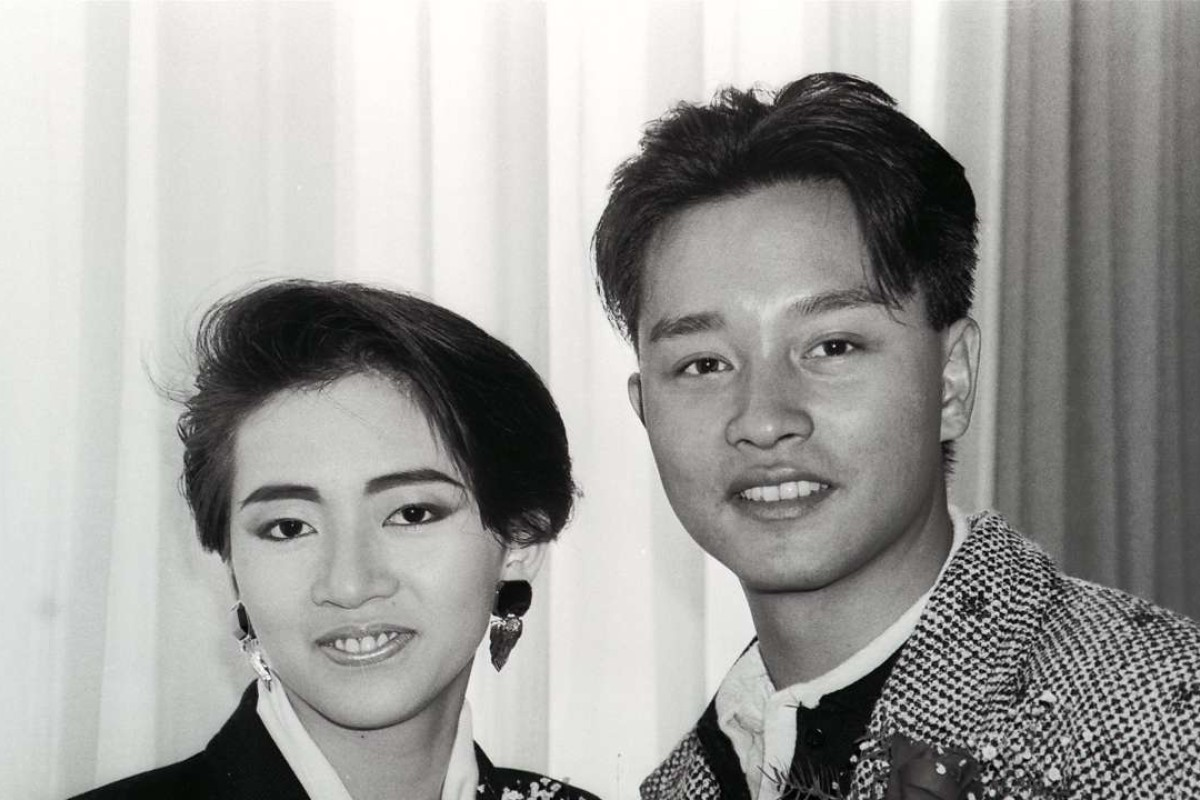 Pop-singers Anita Mui Yim-fong and Leslie Cheung Kwok-wing.
