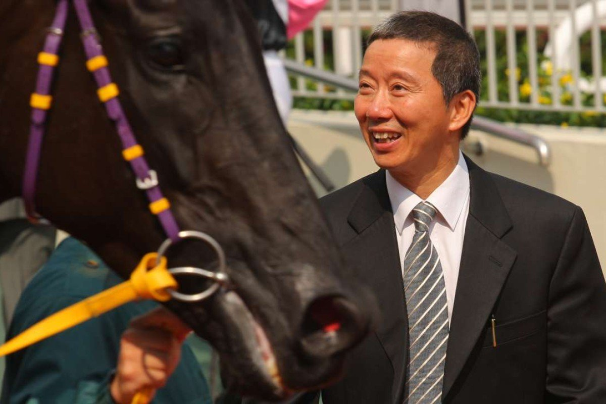 Benno Yung smiles at Momentum Lucky after winning at Sha Tin on Sunday. Photos: Kenneth Chan