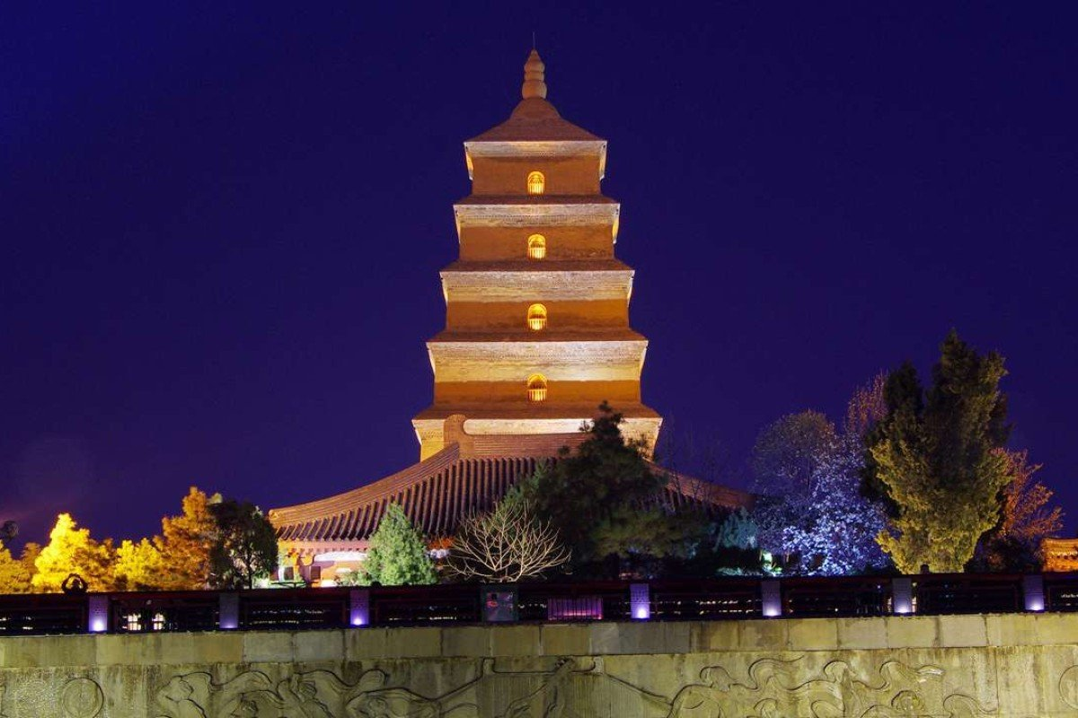 Dayan Pagoda is seen before Earth Hour in Xi'an, Shaanxi province, China. Photo: Reuters