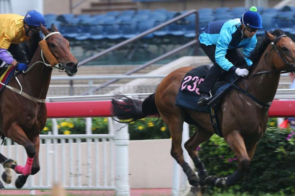 Not Listenin'tome scoots clear of Peniaphobia in Tuesday's trial at Sha Tin. Photo: Kenneth Chan