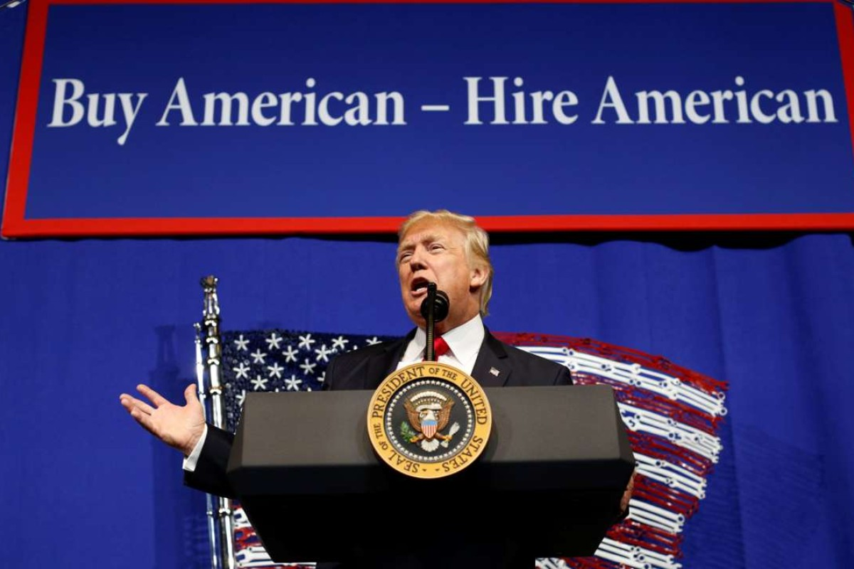 US President Donald Trump has ordered a review of the H-1B visa programme, which is relied on by technology firms to bring in high-skilled foreign workers. Photo: Reuters