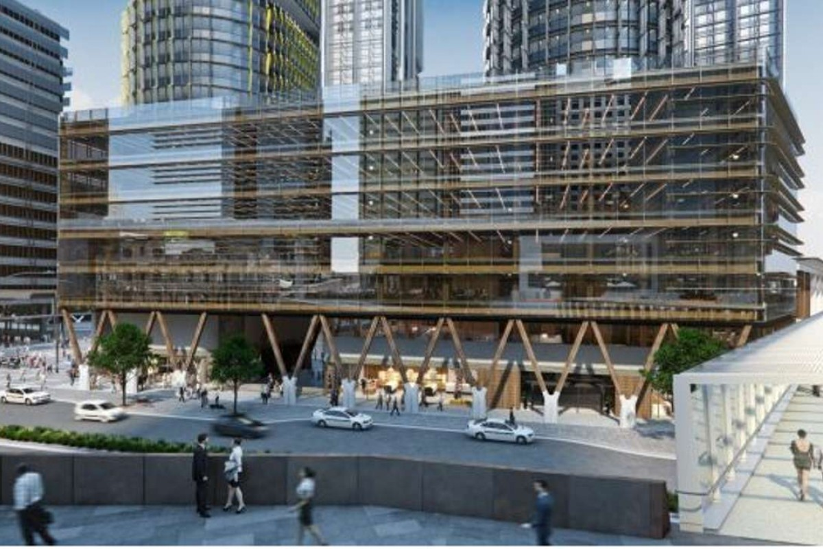 building an office. An Artist\u0027s Impression Of The New Timber Building In Sydney, Australia Office