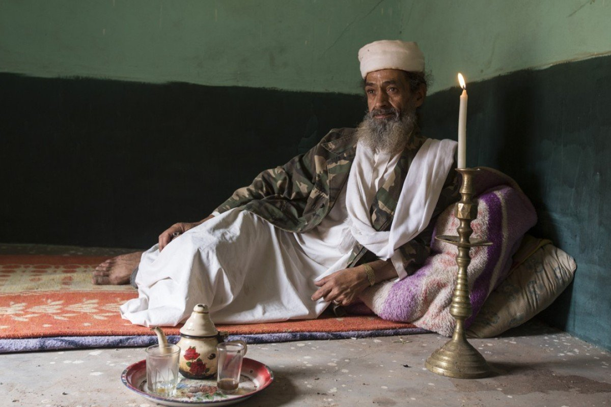 Nicknamed Osama bin Laden due to his resemblance to the late al-Qaeda leader, Abdelaziz Bouyadnaine, 59, is one of the longest-serving extras in Ouarzazate, Morocco. Pictures: Matilde Gattoni