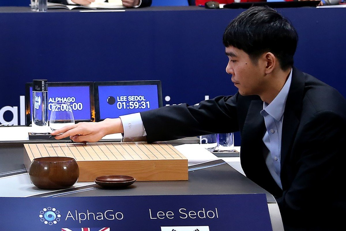 Lee Sedol, one of the greatest modern players of the ancient board game Go, takes on Google DeepMind in Seoul. He lost the match 4-1. Photo: AFP