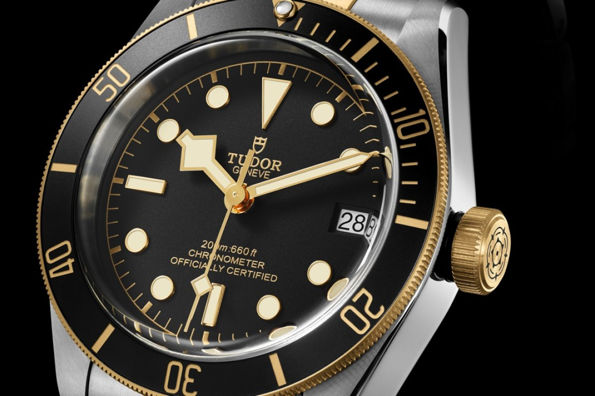 Heritage Black Bay dive watch in yellow gold and steel