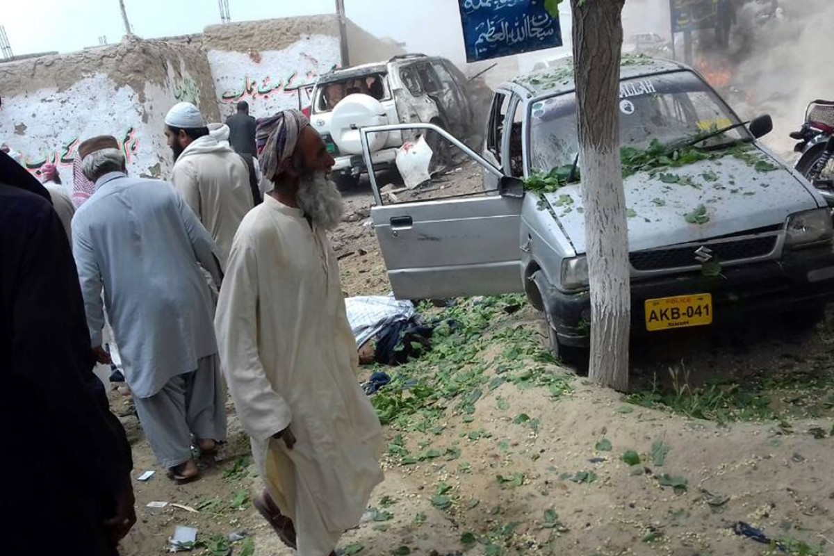 An attack on a convoy carrying the Pakistani senate's deputy chairman in Balochistan left 25 dead and 35 others injured. Photo: Xinhua