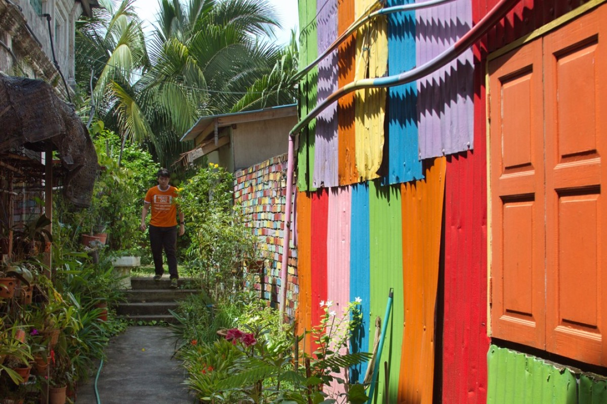Eco Lane, a colourful alley in Chinatown, Kuala Terengganu. Pictures: Keith Mundy