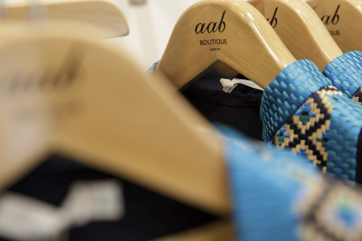 Clothes on display at the aab boutiq store at Upton Park, in London. Photo: AP