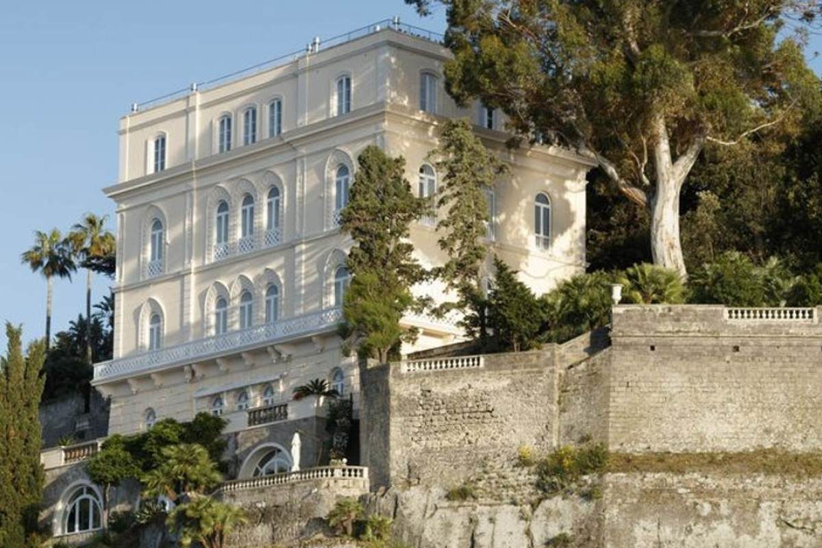 William Waldorf Astor's villa, perched on a cliff in Sorrento has finally opened its doors