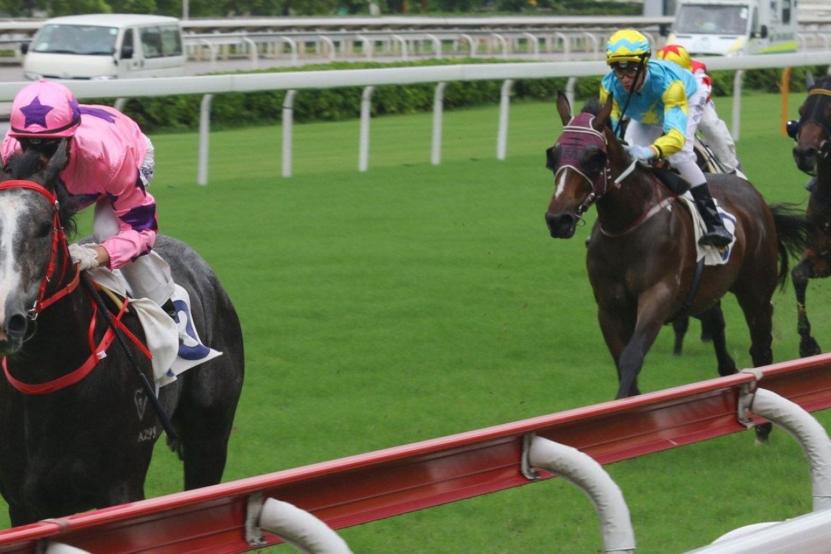 Zac Purton and Hot King Prawn decimate their rivals in the opening race at Sha Tin on Sunday. Photos: Kenneth Chan