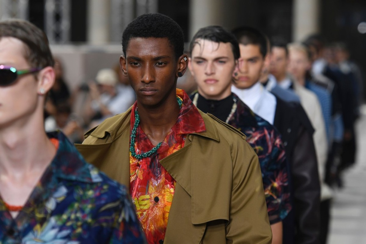 Models present creations by Louis Vuitton during the Men's Fashion Week for the Spring/Summer 2018 collection in Paris. Photo: AFP