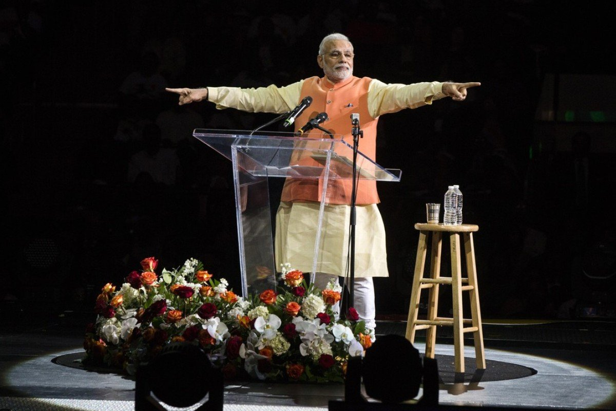 Indian Prime Minister Narendra Modi at Madison Square Garden in New York, during his visit in 2014. Photo: Reuters