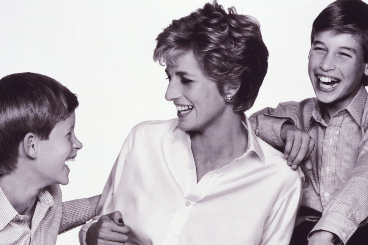 In happier times with Harry and William. Photo: John Swannell