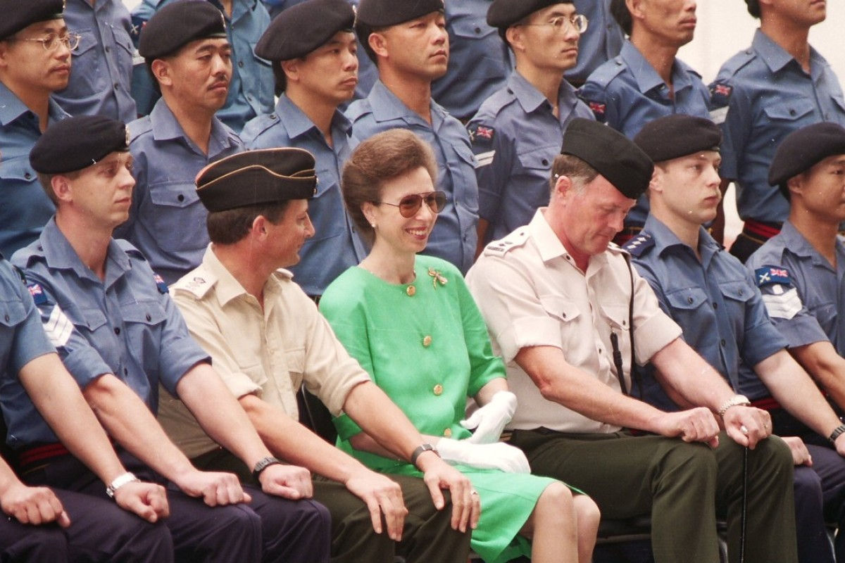 Princess Anne acted as the Colonel-in-Chief of the Royal Logistic Corps, attending an annual inspection of the 415 Maritime Troop at the Prince of Wales Barracks in HMS Tamar, the headquarters of the British Forces in Hong Kong