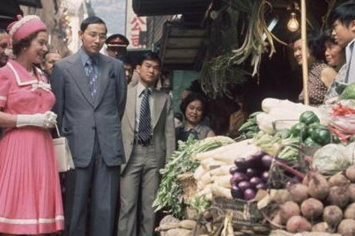 Queen Elizabeth visited the market in Hong Kong in 1975