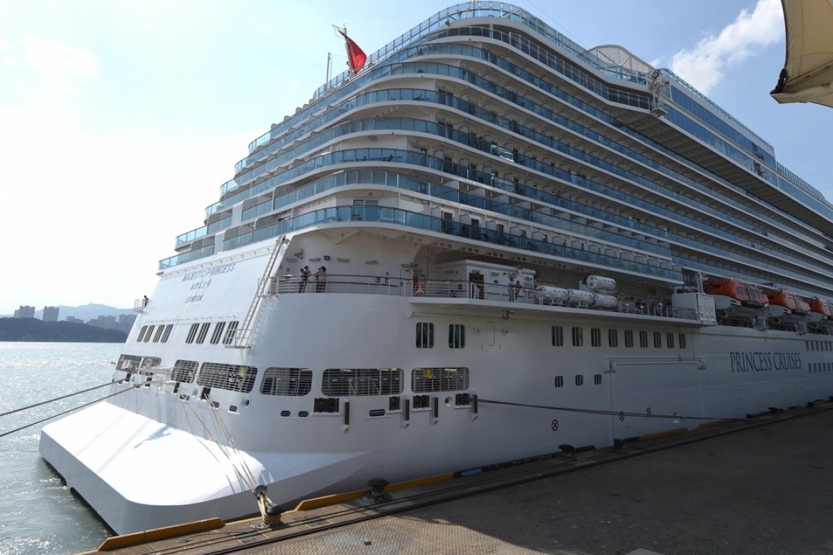 The Majestic Princess arrives in a port in Xiamen, coastal city of southeast China's Fujian Province. With a capacity of 7,000 passengers, the Majestic Princess, a new cruise ship, made its maiden global voyage from Rome to east China's Xiamen City. Photo: Xinhua