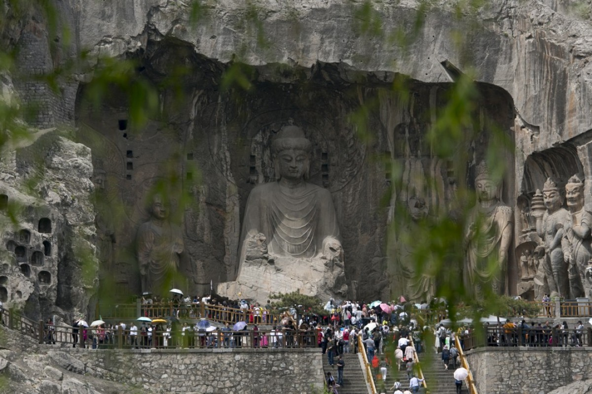 Fengxian Temple, at the Longmen Grottoes, in Luoyang. Pictures: May Tse