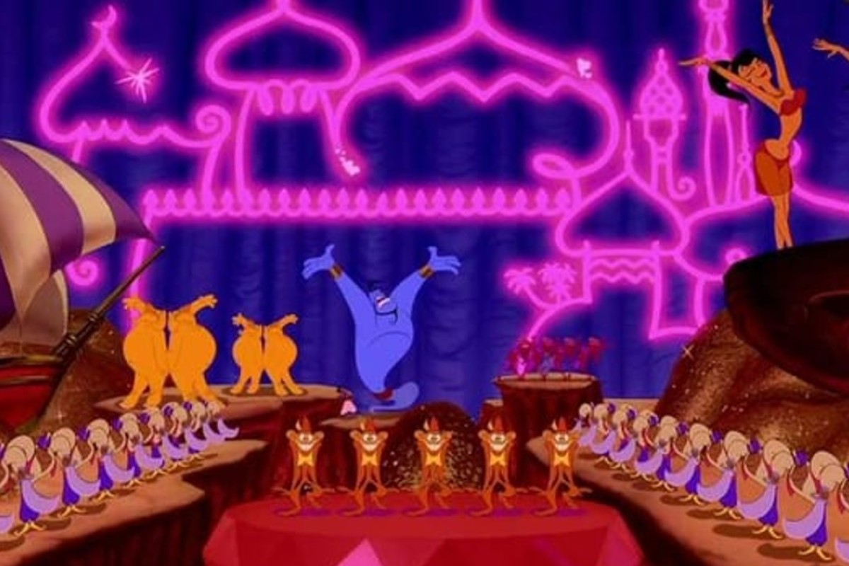 A movie still of Aladdin in 1992.