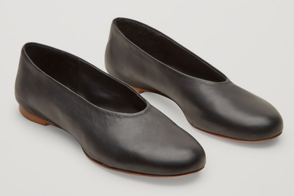 Slip-on leather shoes by COS.