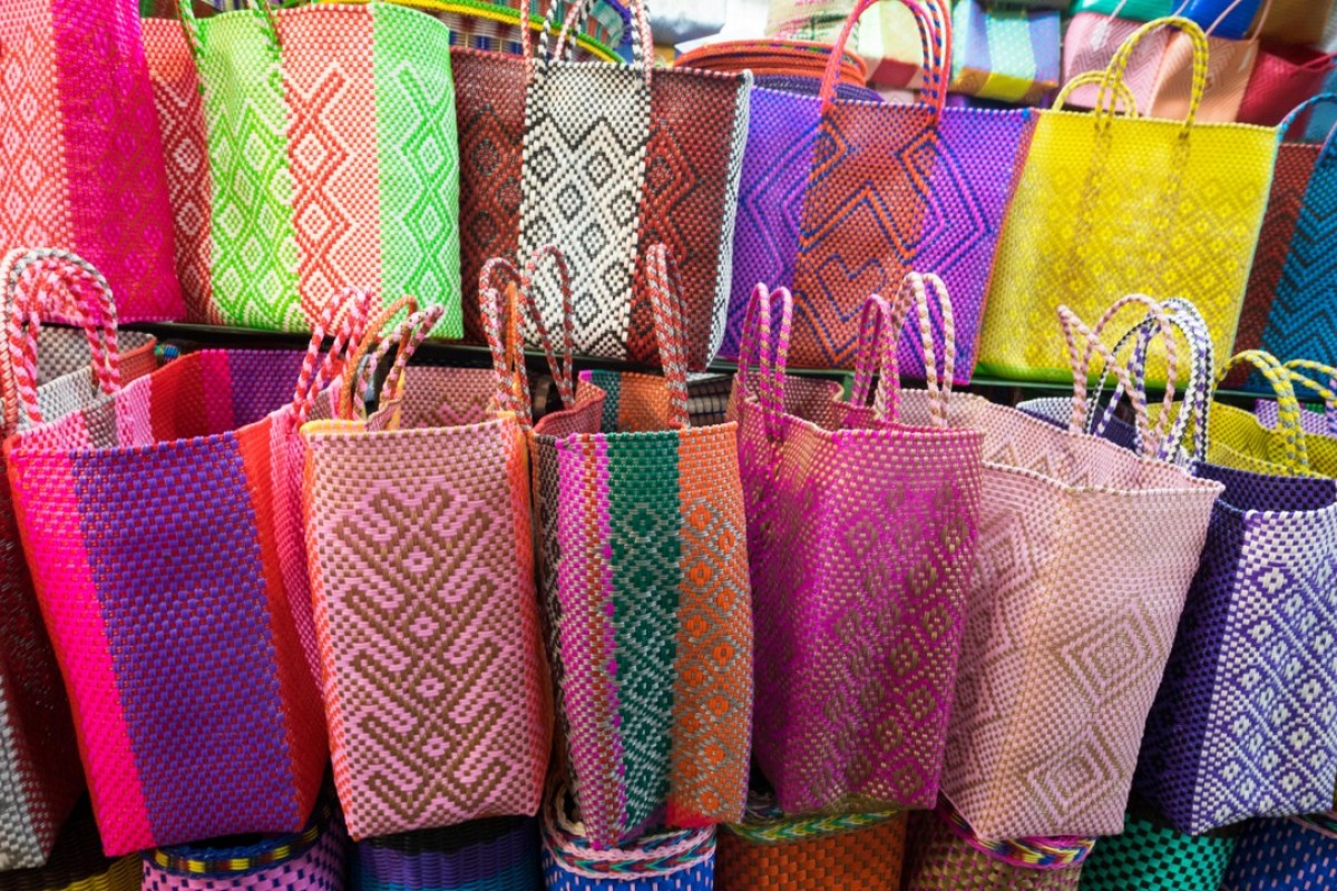 Mexico's Oaxaca bags, which inspired Truss' woven PVC tote collection. Picture: Alamy