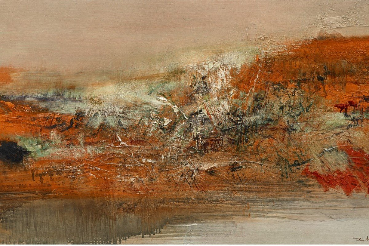 1.5.70, by Zao Wou-Ki, will be auctioned by China Guardian in Hong Kong in October. Picture: courtesy of China Guardian (HK) Auctions